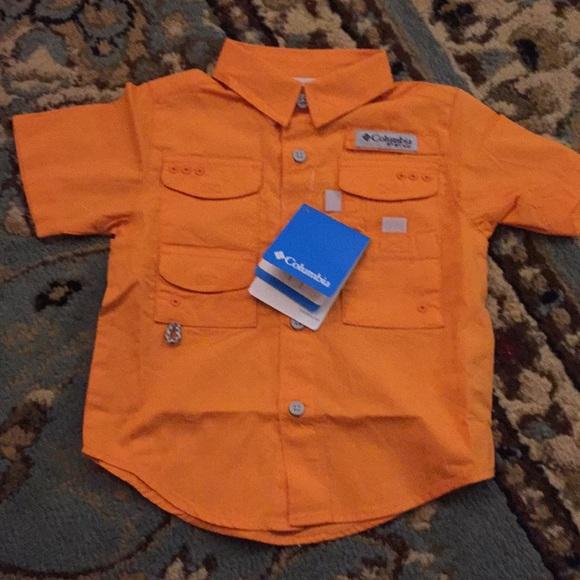 eebbfaac Columbia Shirts & Tops | Toddler 2t Orange Boys Fishing Shirt | Poshmark